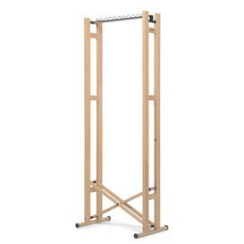 image-Snake Wide Clothes Rack Foppapedretti Size: 177cm H x 66cm W x 43cm D, Finish: Beige