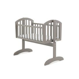 image-Sophie Swinging Crib with Mattress Obaby Colour: Taupe Grey