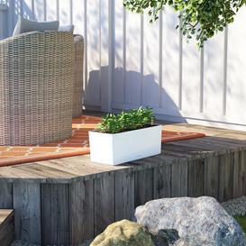 image-Balconera Plastic Self-Watering Balcony Planter Lechuza Colour: White, Size: 19 cm H x 50 cm W x 19 cm D