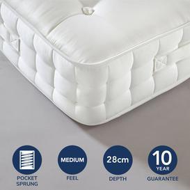 image-Dorma 1000 Pocket Sprung Mattress White