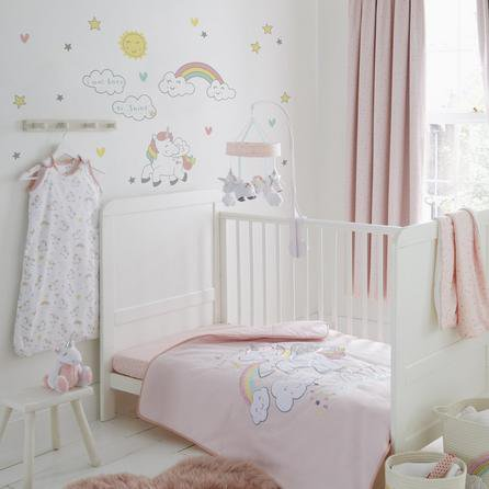 image-Unicorn Dreams Wall Stickers White / Pink