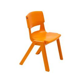 image-Postura+ Classroom Chair, 4-6 Years - 28wx25dx31h (cm), Tangerine, Free Standard Delivery