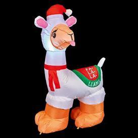 image-4 LED White Outdoor Inflatable Llama Christmas Decoration Mains 5M