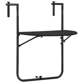 image-Reis Folding Steel Balcony Table Sol 72 Outdoor Colour: Black