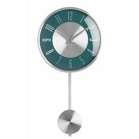image-Britt Pendulum 18cm Wall Clock Metro Lane Colour: Blue