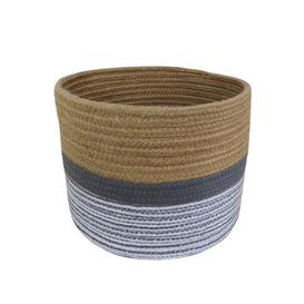image-Small Monochrome Rope Basket Natural