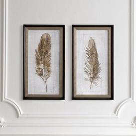 image-Autumn Feather Set of 2 Framed Wall Art Natural