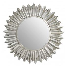 image-Templars Sunburst Effect Wall Bedroom Mirror In Nickel Frame
