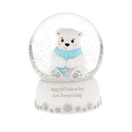 image-Personalised Polar Bear Snow Globe