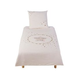 image-Children's Ecru, Pink and Gold Print Cotton Bedding Set 140x200