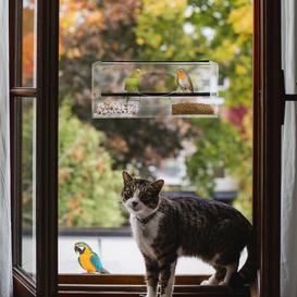 image-Strong Window Bird Feeding Station