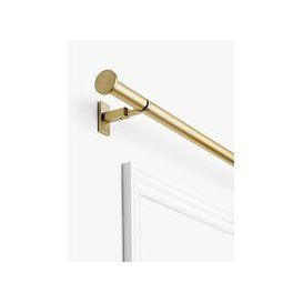image-John Lewis & Partners Made to Measure Revolution Eyelet Curtain Pole with Disc Finials, Wall / Ceiling Fix, Dia.30mm