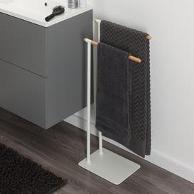 image-Brix Metal Free Standing Towel Rack Sealskin Finish: White