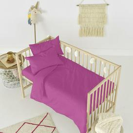 image-Rockford Fitted Cot Sheet Symple Stuff Colour: Fuchsia