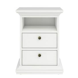 image-Woodburn 2 Drawer Bedside Table August Grove Colour: White