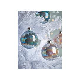 image-NEW Twelve Lustre Glass Baubles