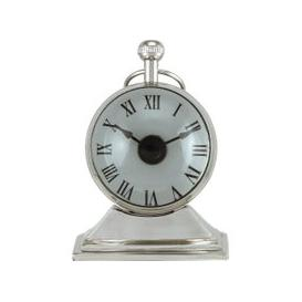 image-Nickel Magnifying Table Clock