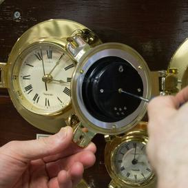 image-Brass Cabin Barometer Nauticalia