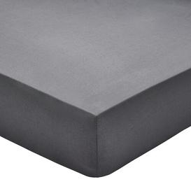 image-200 Thread Count Cotton Percale Fitted Sheet Bedeck of Belfast Size: Kingsize (5'), Colour: Graphite