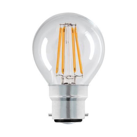image-Dunelm 4 Watt BC LED Filament Round Bulb Clear
