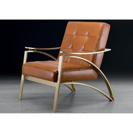image-Stone International Camilla Leather Occasional Chair