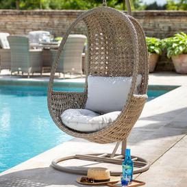 image-2020 Hartman Heritage Outdoor Hanging Chair With Cushion - Beech/Dove