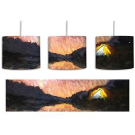 image-Camping Under the Stars 1-Light Drum Pendant East Urban Home