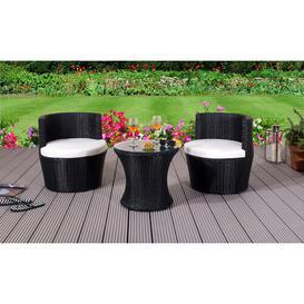 image-Dayana 2 Seater Bistro Set with Cushions Dakota Fields Colour: Black