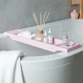 image-Blush Bamboo Bath Rack Blush (Pink)