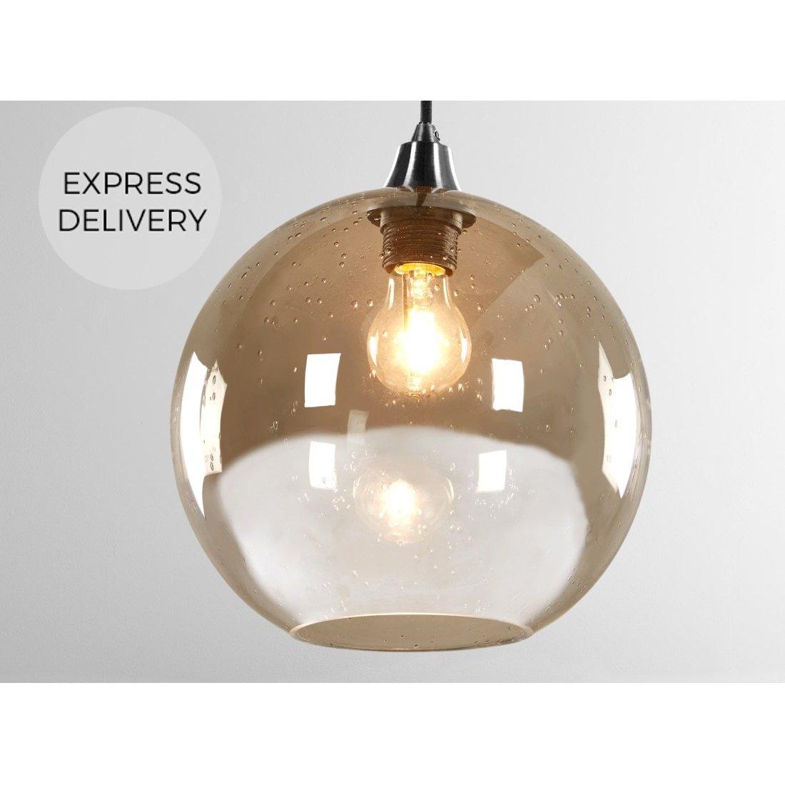 image-MADE Essentials Edna glass Easyfit lamp_Lamp Shade, Smoke Grey