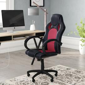 image-Gaming Chair Symple Stuff Colour: Black / Red