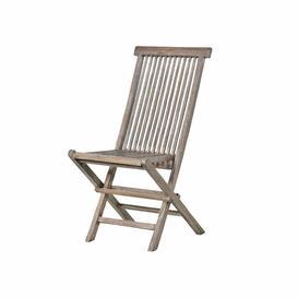 image-Grey Teak Garden Chair