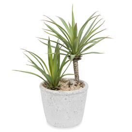 image-Artificial potted yucca H 24 cm