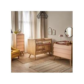 image-Vox Vintage 3 Piece Cot Nursery Set in a Choice of Oak or 5 Pastel Colours - White