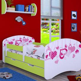 image-Maplesville Cot Bed / Toddler (70 x 140cm) Bed Frame with Drawer Isabelle & Max Colour (Bed Frame): Green