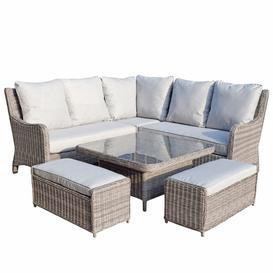 image-Signature Weave Garden Furniture Alexandra Corner Dining Sofa Set