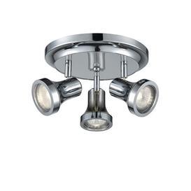 image-SP9043 Three Light Bathroom Ceiling Spotlight In Chrome With Adjustable Heads