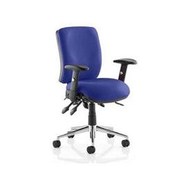 image-Chiro Medium Back Office Chair In Stevia Blue With Arms