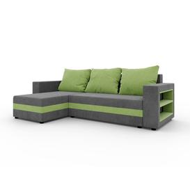 image-Asuncion Reversible Sleeper Corner Sofa Bed Ebern Designs Upholstery Colour: Grey/Green