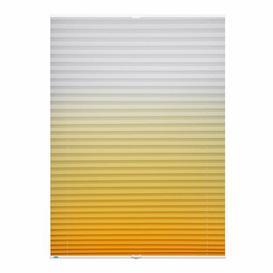 image-Semi-Sheer Pleated Blind Mercury Row Finish: Yellow, Size: 105 W x 130 L cm
