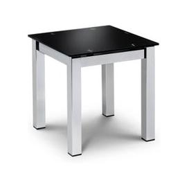 image-Tempo Glass Top Lamp Table In Black