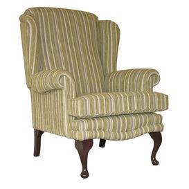 image-Clarkfield Armchair Astoria Grand Upholstery: Zaffiro Stone, Frame Finish: Mahogany