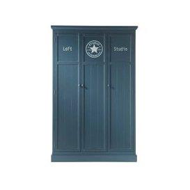 image-Grey closet W 125cm Newport