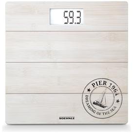 image-Leifheit Digital Bathroom Scales - White Bamboo