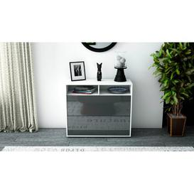 image-Quarry Sideboard Mercury Row Body and front colour: White/High gloss grey