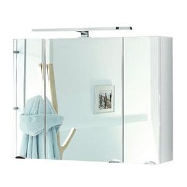 image-90 x 68cm Surface Mount Mirror Cabinet with LED Belfry Bathroom Colour: White