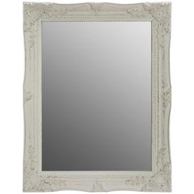 image-Dan Wall Mirror Marlow Home Co. Colour: White