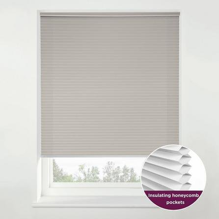 image-Swish Morning Mist Cordless Insulating Pleated Blind Grey