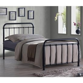 image-Miami Victorian Style Metal Single Bed In Black