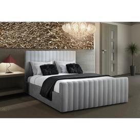 image-Erik Upholstered Bed Frame Fairmont Park Size: Kingsize (5'), Colour: Silver